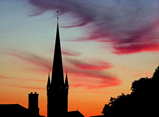 Sonnenuntergang über der Altstadt