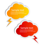 Vector speech bubbles set, cloud shaped