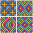 Set of seamless art deco textures and pattern