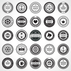 Vintage style retro emblem label collection design elements