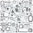 Web Doodles Sketchy Icon Design Elements Vector Set