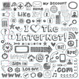 Fototapety Web Sketchy Doodle Computer Icons Vector Design Elements