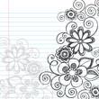 Flowers Sketchy Doodle Vector Illustration