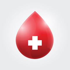 Blood drop vector illustration