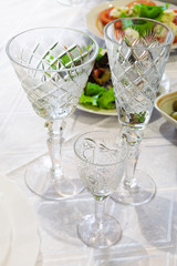 beautiful crystal glasses