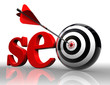 seo red word and conceptual target