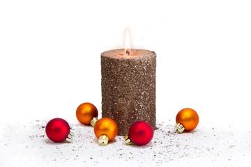 Advent - eine brennende Kerze