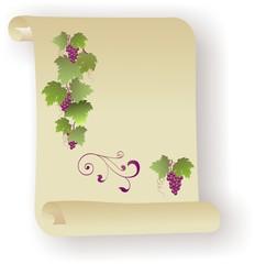 Roter Wein auf Pergament
