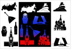 Russia picture and b-w hallmarks poster