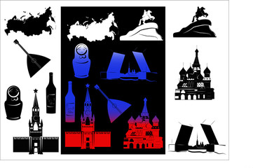 Russia picture and b-w hallmarks