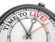 time to live concept clock