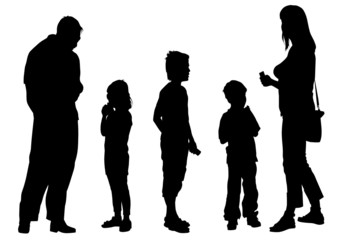 Parents and child people