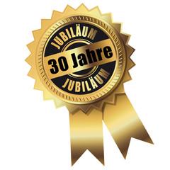 30 Jahre - Jubiläum gold