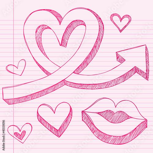 Doodle Designs Heart Heart Arrows Sketchy Doodle