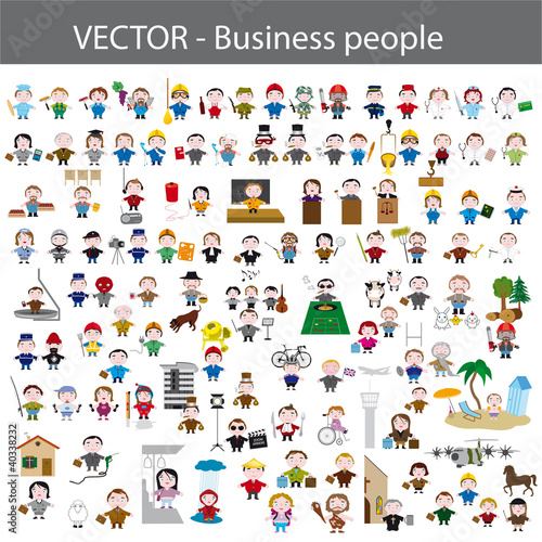 métiers, business people, icon set