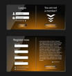 Login and register web screens, orange version-vector