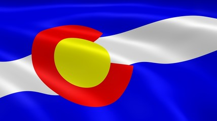 Coloradan flag in the wind