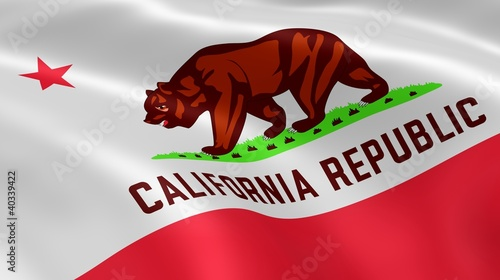 Californian flag in the wind
