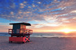 Leinwandbild Motiv Miami South Beach sunrise