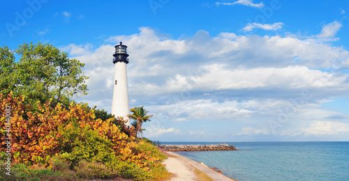 Cape Florida Light panorama