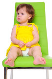 child on chair