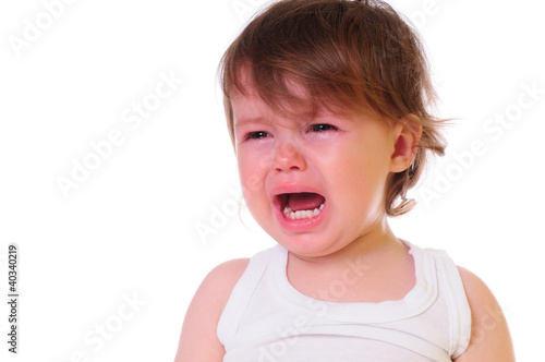 little child crying - 40340219