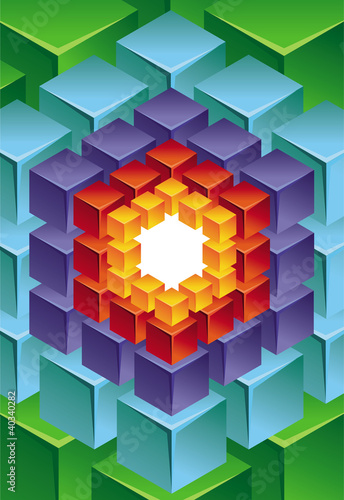 abstract modern background with cube