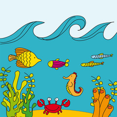 cute reef vector