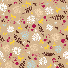 abstract cute spring seamless background