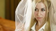 Preparing For Wedding - Putting On The Veil