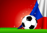 Vector illustration of a soccer ball with Czech insignia poster