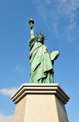 Frontal view of the Statue of Liberty