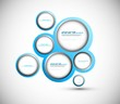Abstract web design new circle bubble  vector
