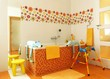 Colorful modern bathroom for children