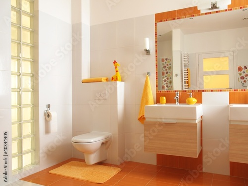 Poster Colorful children bathroom with toilet