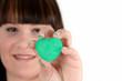 Mintfarbenes Herz