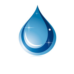 Goutte d'eau ovale