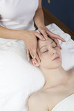 stimulating massage of the face poster