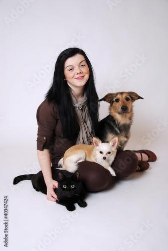 Jugendliche mit Haustieren