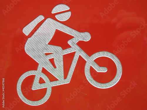 Schild Mountainbiker