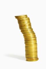 Gold coin heap