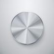 Blank shiny silver knob or push button