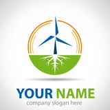 Logo wind energy # Vector