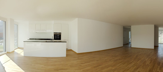 panoramic kitchen, interior