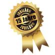 15 Jahre - Jubiläum gold