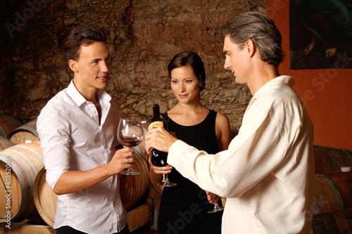 Gruppe von Weintrinkern