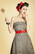 Pin Up Girl mit Lolipop
