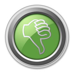 "Green 3D Style Button ""Thumbs Down"""