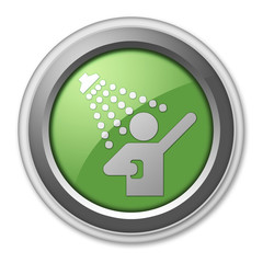 "Green 3D Style Button ""Shower"""