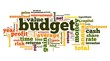 Budget concept in word tag cloud on white